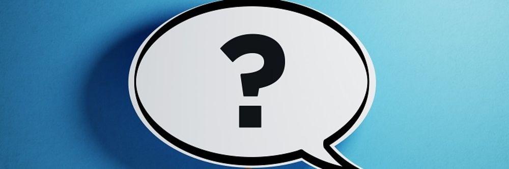 Sprechblase mit Fragezeichen